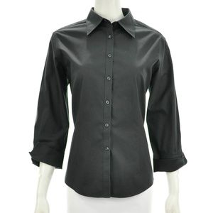 BROOKS BROTHERS BLACK BUTTON DOWN SHIRT SIZE 12